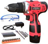 GardenJoy 12V Max Li-ion Power Cordless Drill Driver Kit 3/8'' Keyless Chuck 25PC ACCS 5-Year Warranty